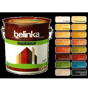 Декоративное лазурное покрытие с натуральным воском Belinka Toplasur